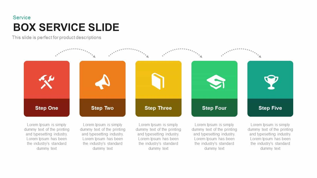 Box Service PowerPoint Template and Keynote