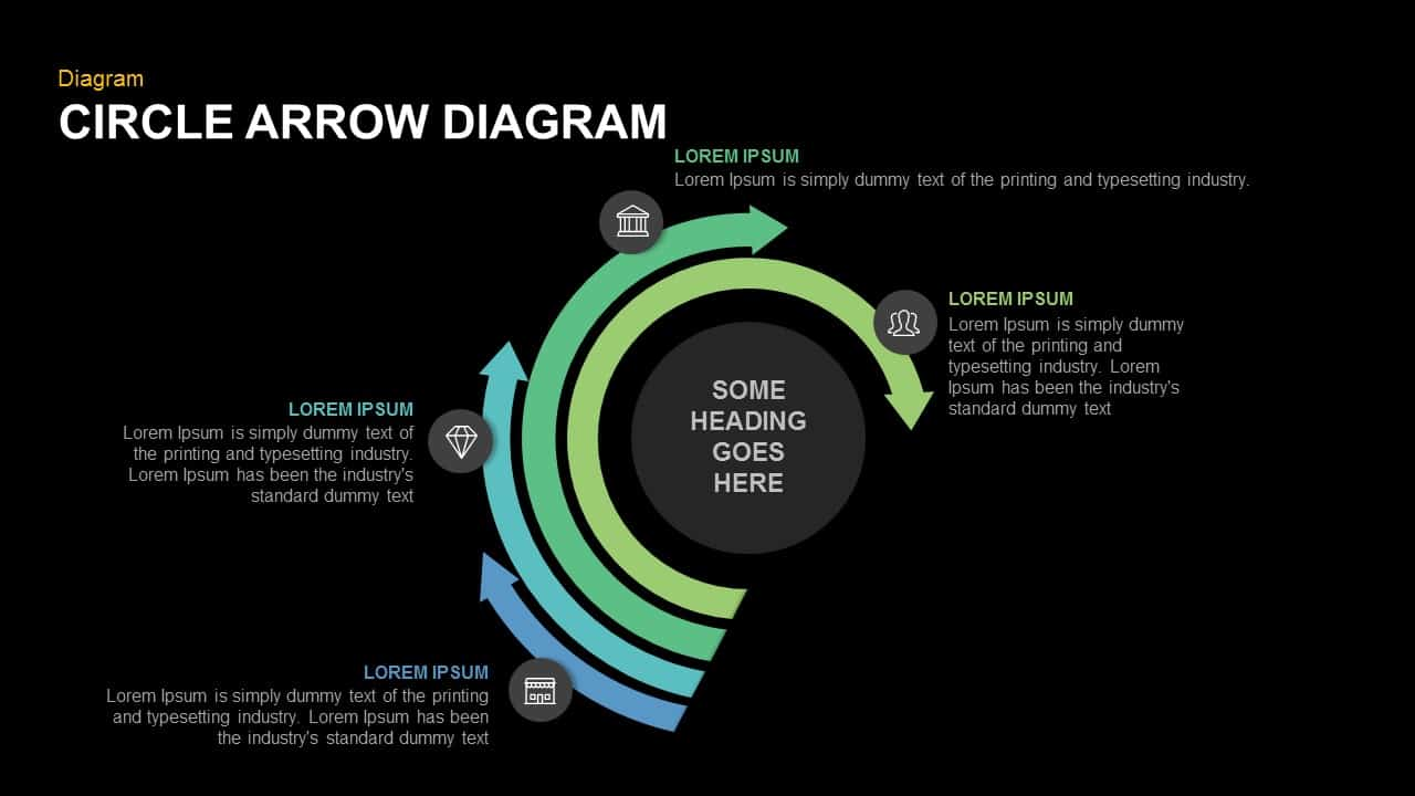 Circle arrow diagram PowerPoint template and keynote