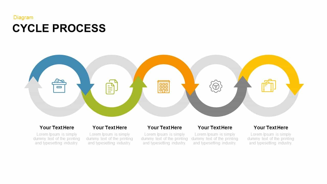 Cycle process PowerPoint template and keynote