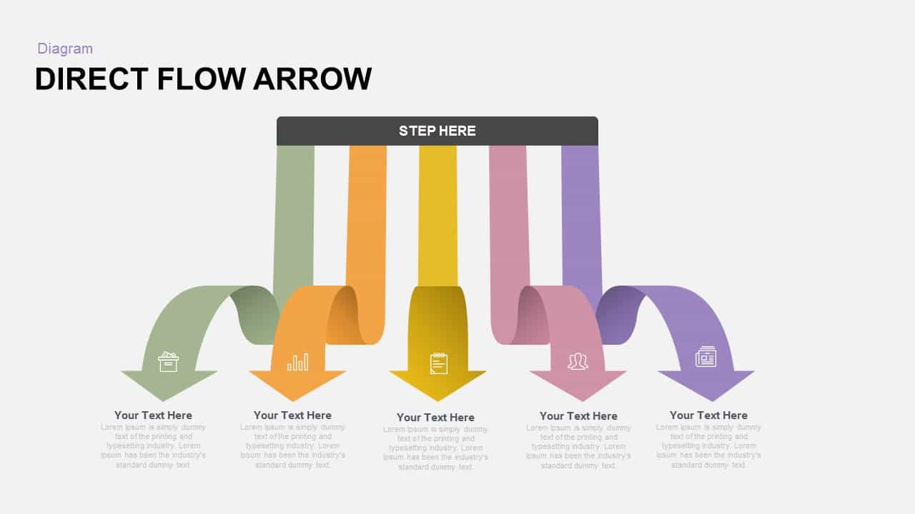 Direct Flow Arrow PowerPoint Template and Keynote