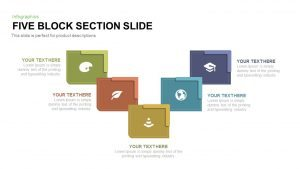 5 Section Block PowerPoint Template and Keynote Diagram