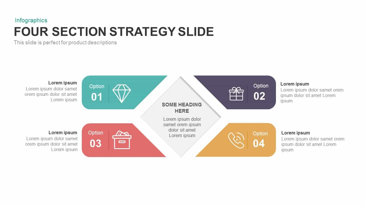 4 Section Strategy Powerpoint Template And Keynote Slide Slidebazaar