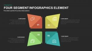 4 Segment Infographics Elements PowerPoint Template and Keynote Slide