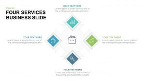 4 Services Business PowerPoint Template and Keynote Diagram