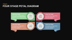 4 Stage Petal Diagram Template for PowerPoint and Keynote