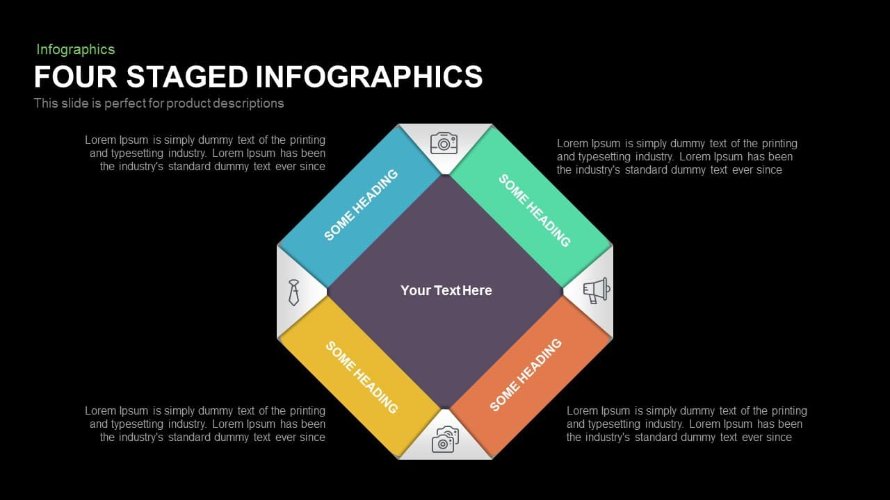 4 Staged Infographics PowerPoint Template and Keynote