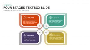 4 Staged Text Box PowerPoint Template and Keynote Slide