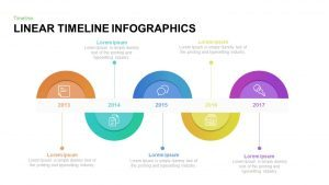 Linear Timeline Infographic Template for PowerPoint and Keynote
