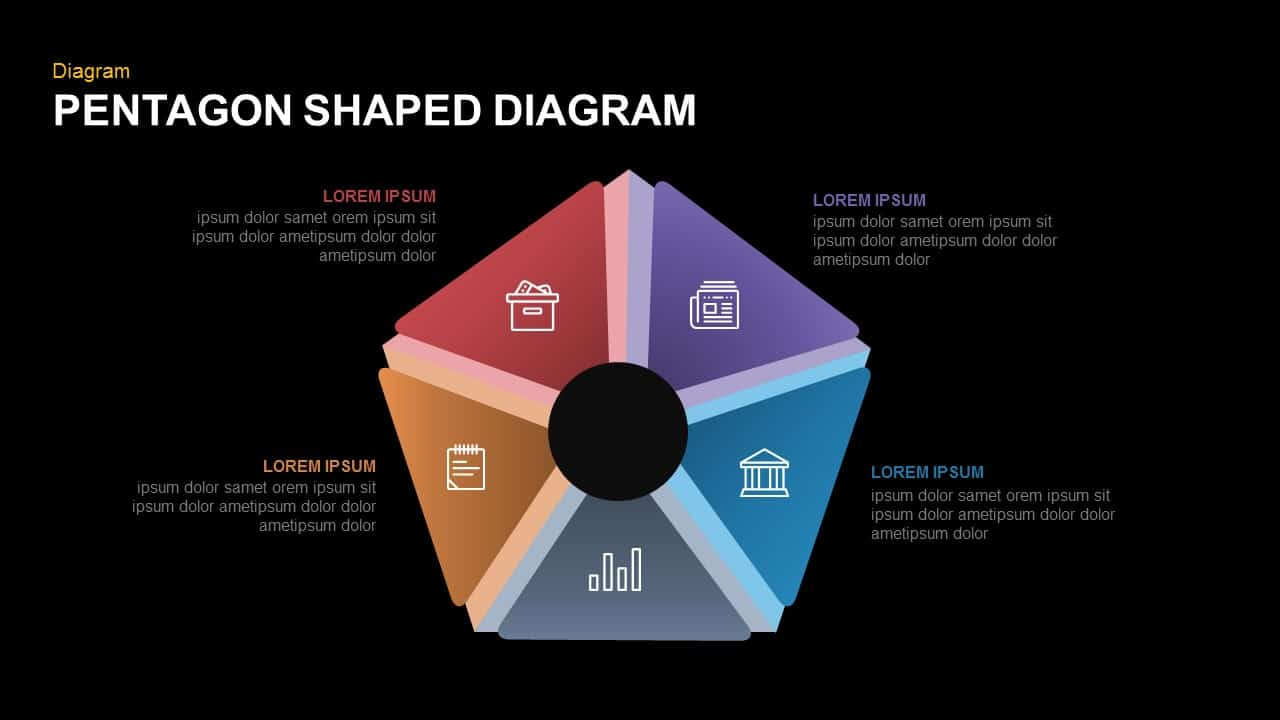 Pentagon PowerPoint template and keynote