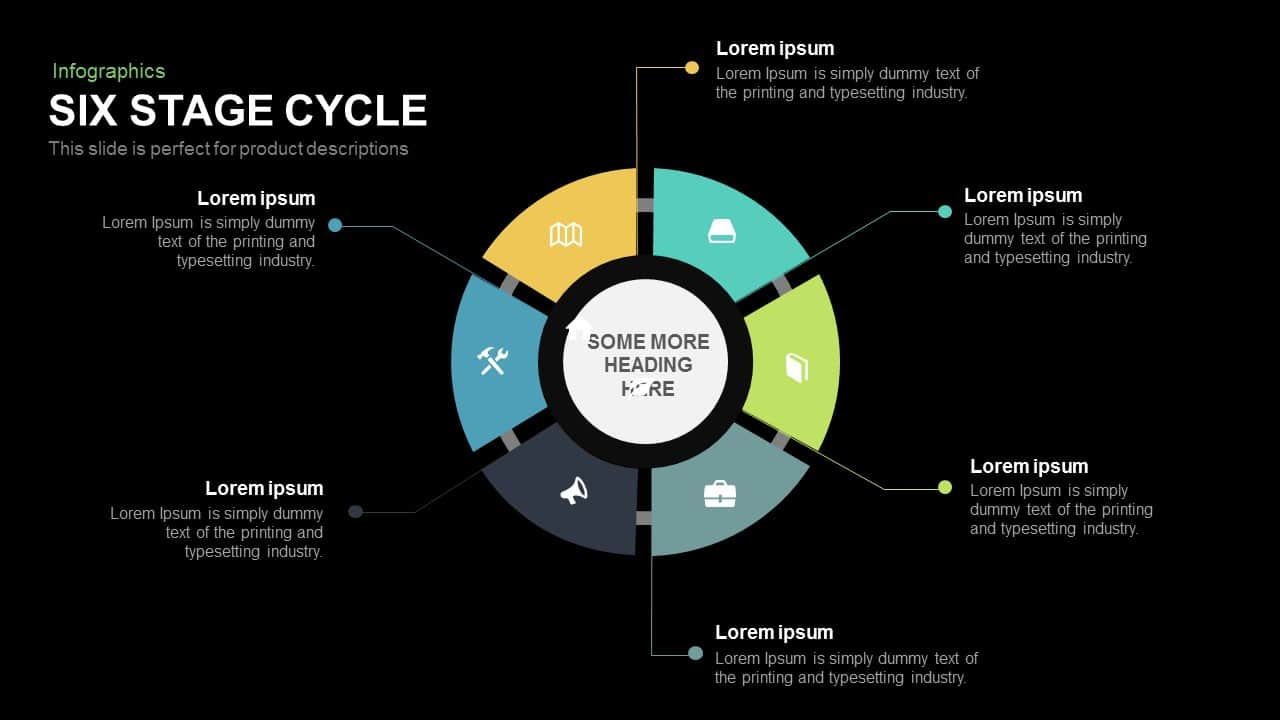 6 Stage Cycle PowerPoint Template and Keynote
