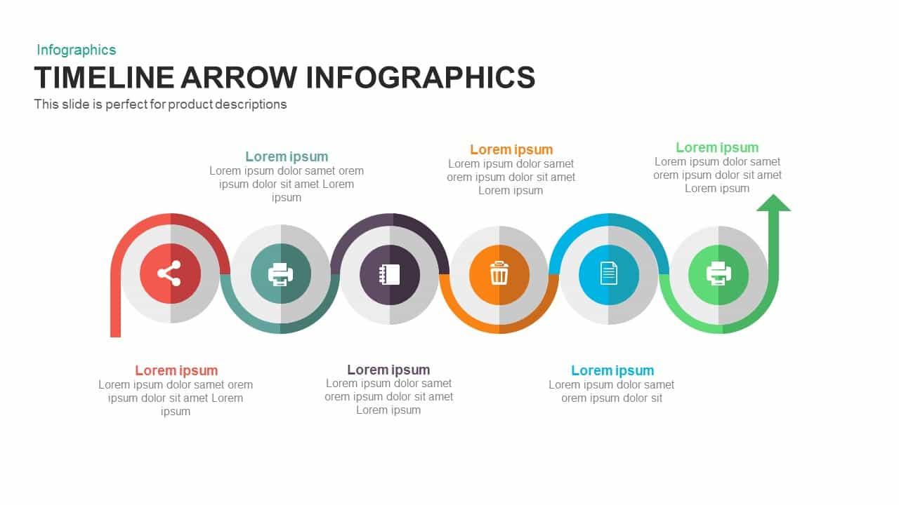 timeline arrow PowerPoint template