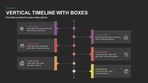 Vertical Timeline PowerPoint Template and Keynote Slide with Boxes