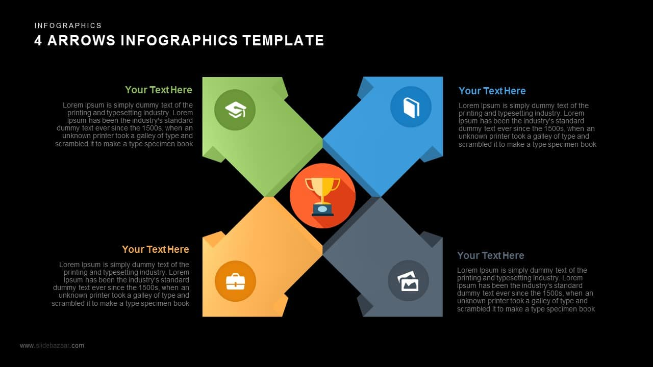 4 Arrows PowerPoint Infographics Template and Keynote