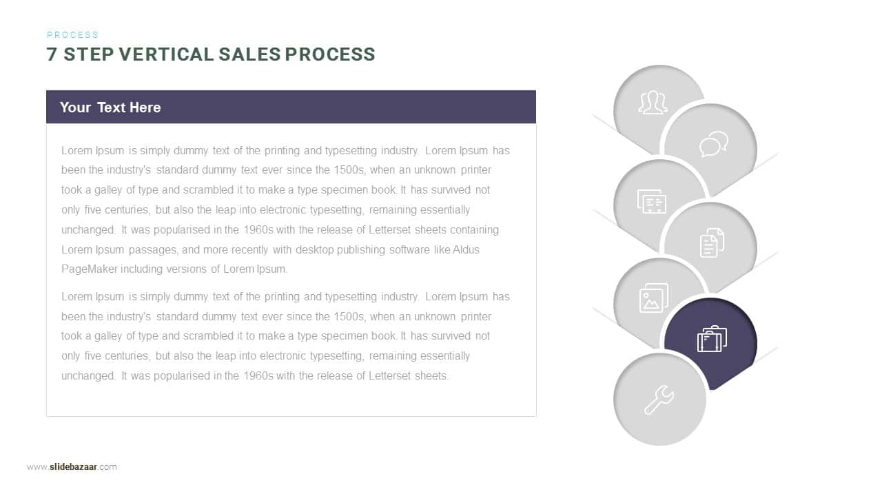 7 Step Vertical Sales Process Powerpoint and Keynote template