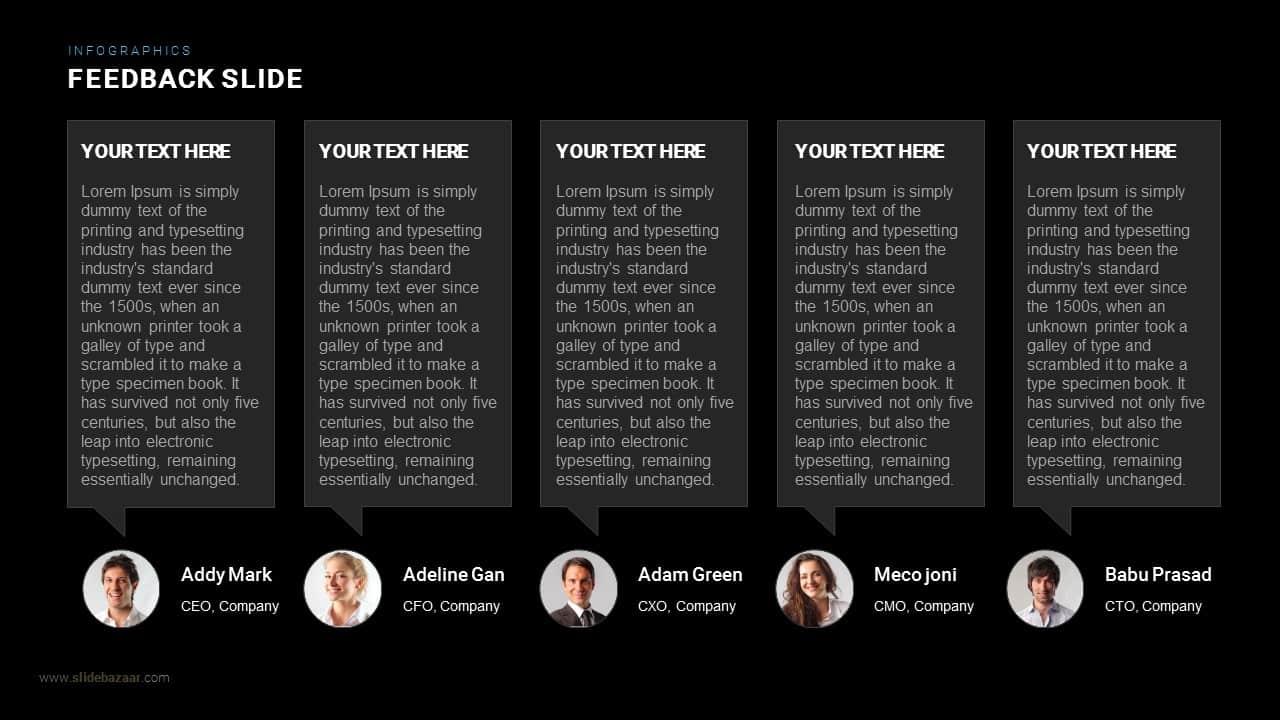 Feedback Slide Powerpoint and Keynote template