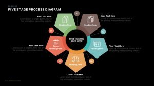 Five Stage Process Diagram PowerPoint Template and Keynote