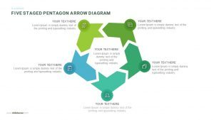 5 Steps Pentagon Shapes PowerPoint Arrow Diagram