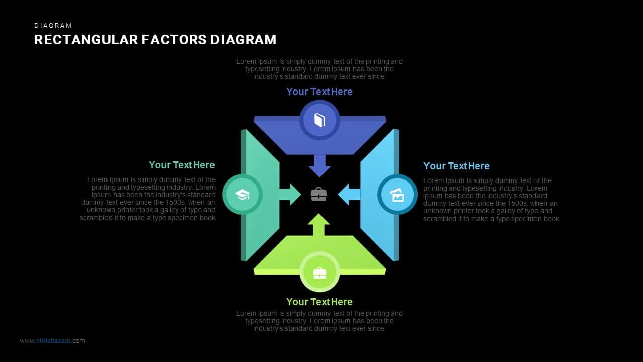Rectangular Factors Diagram Powerpoint and Keynote template