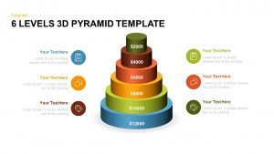 6 Levels 3d Pyramid PowerPoint Template and Keynote Slide