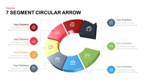 7 Segments Circular Arrow Template for PowerPoint and Keynote
