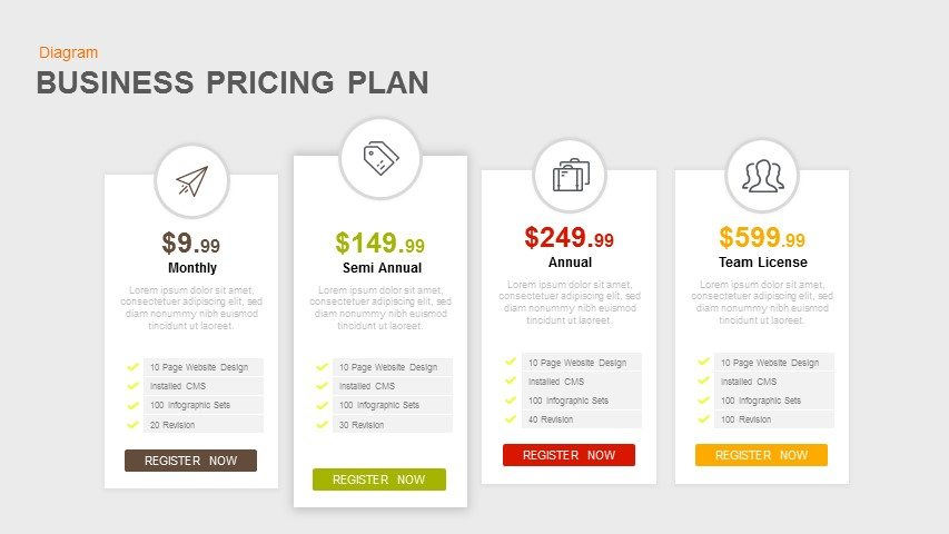 Business Pricing Plan Template for PowerPoint