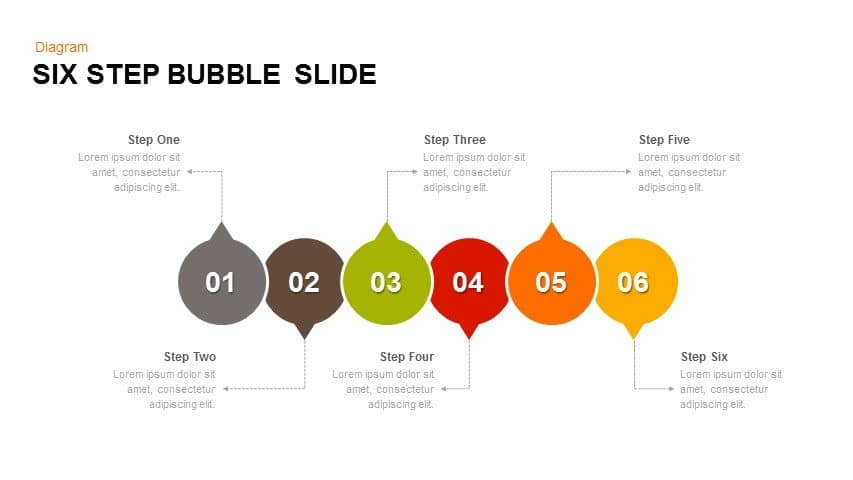 6 Step Bubble PowerPoint Template