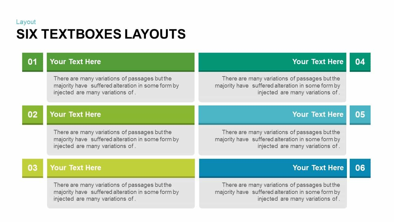 Text Boxes Layouts PowerPoint Template