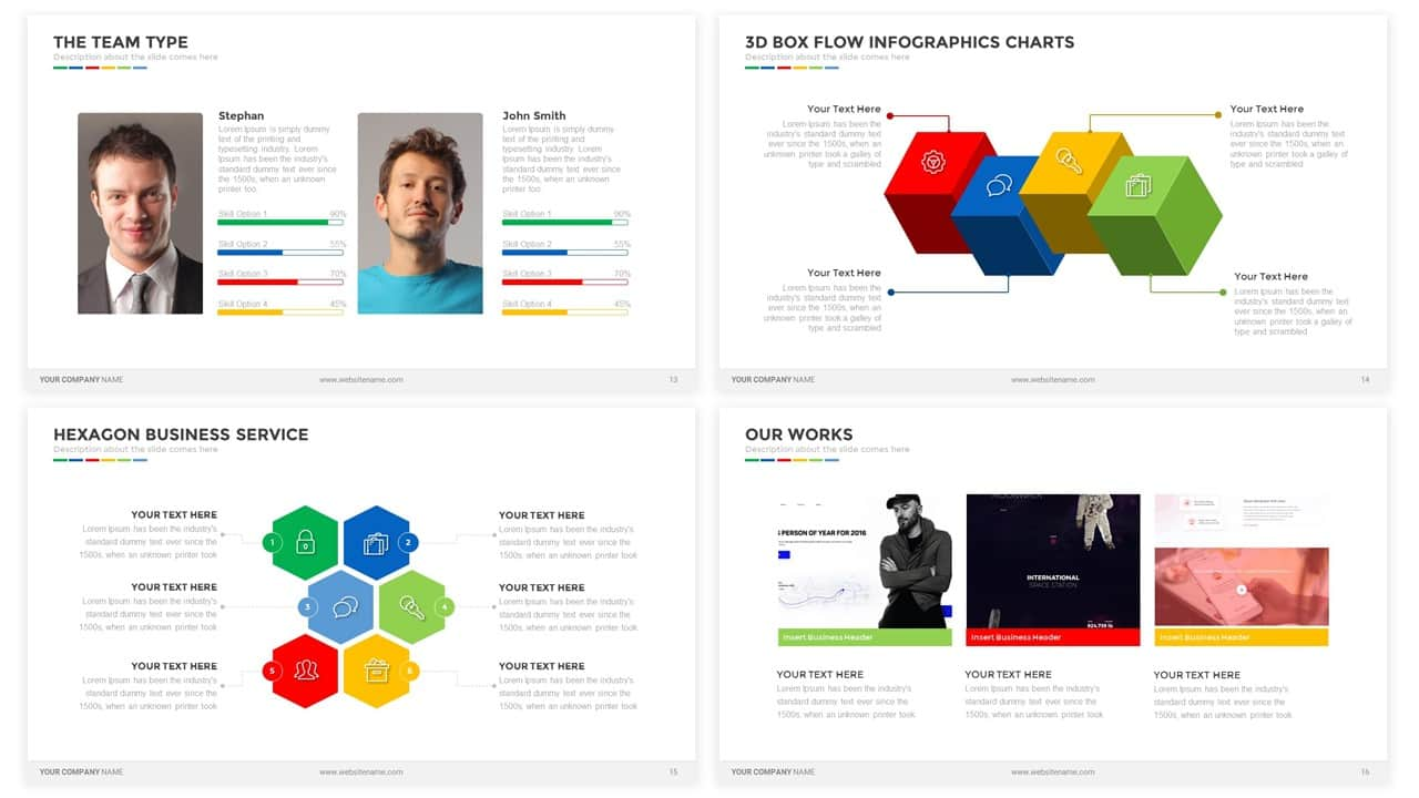 Business Presentation Powerpoint and Keynote template