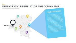 Democratic Republic of the Congo Map Powerpoint and Keynote template