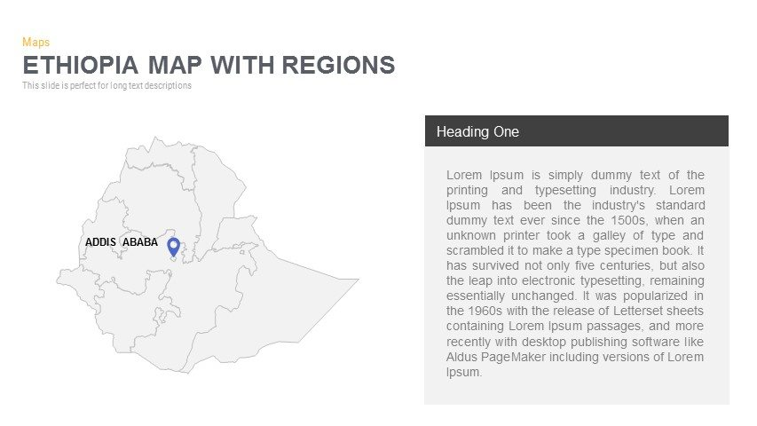 Ethiopia Map With regions Powerpoint and Keynote template