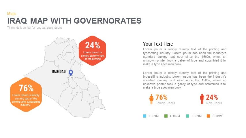 Iraq Map With governorates Powerpoint and Keynote template