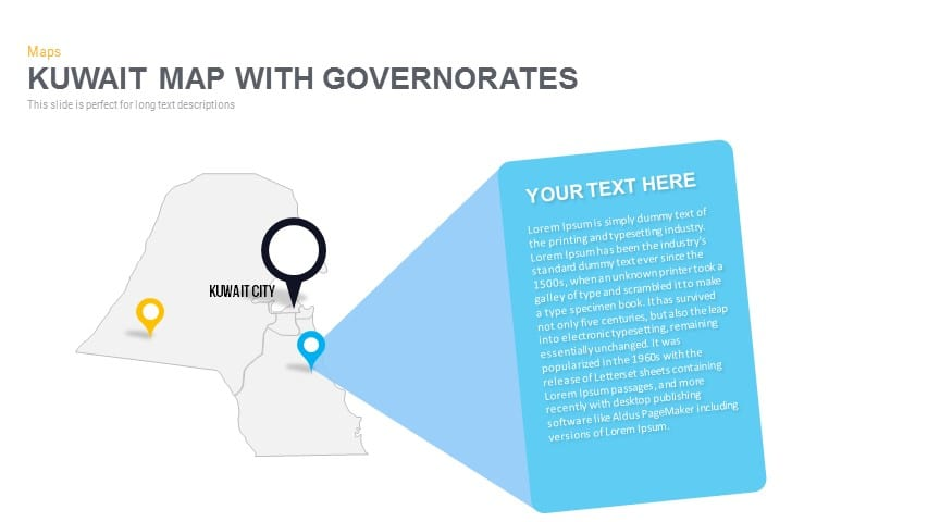 Kuwait Map With governorates Powerpoint and Keynote template