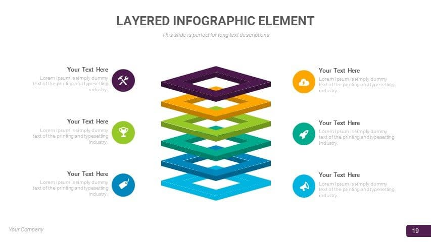 LAYERED INFOGRAPHIC ELEMENT