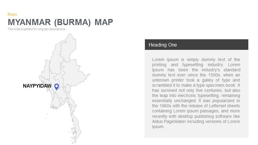 Myanmar Burma Map Powerpoint and Keynote template