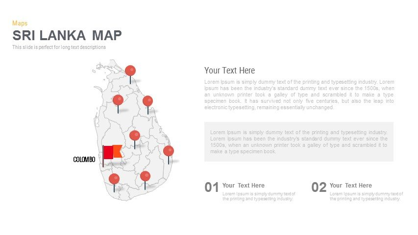 Sri Lanka Map Powerpoint and Keynote template