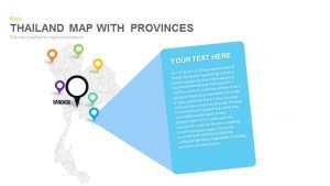 Thailand Map Powerpoint and Keynote template