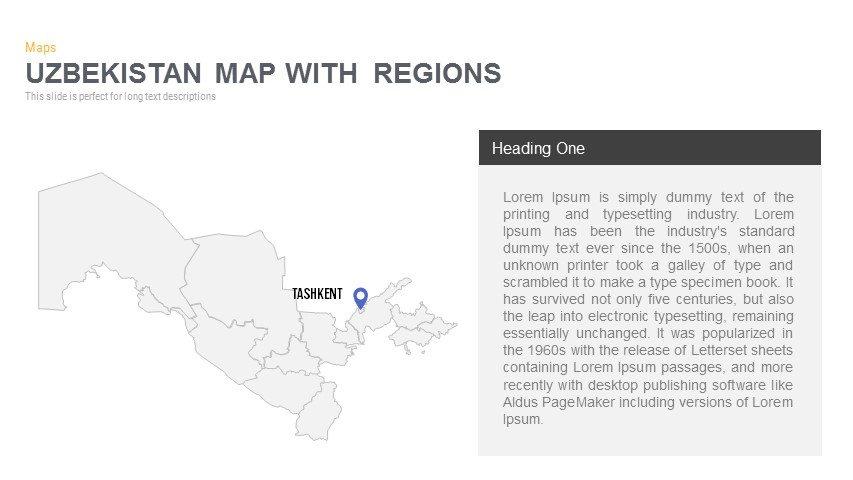 Uzbekistan Map Powerpoint and Keynote template