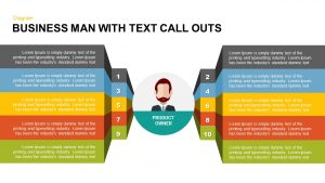 Businessman with Text Callouts PowerPoint Template & Keynote