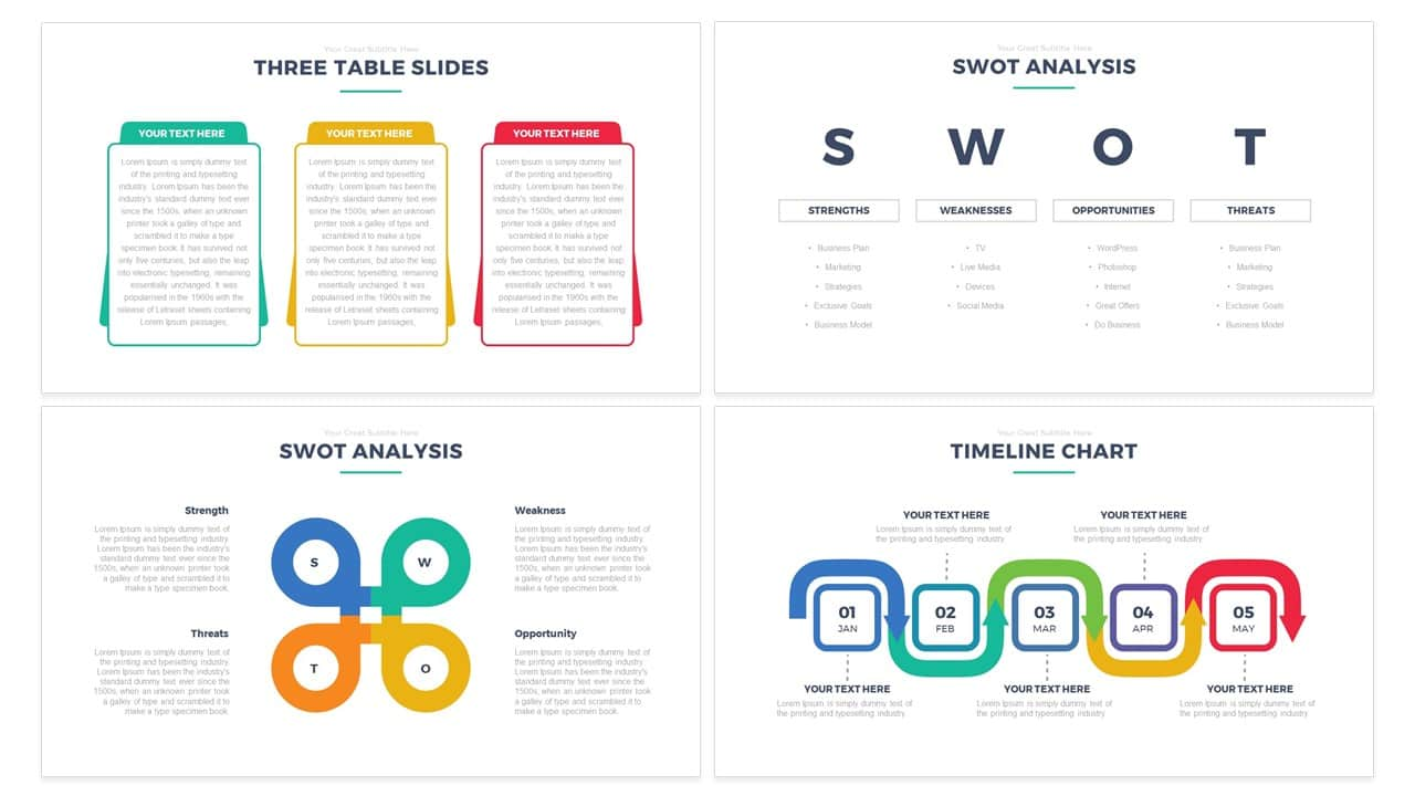 Simple Free multipurpose PowerPoint and Keynote template