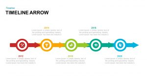 Timeline Arrow PowerPoint Template and Keynote Slide