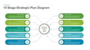 10 Stage Strategic Plan Diagram Template for PowerPoint and Keynote