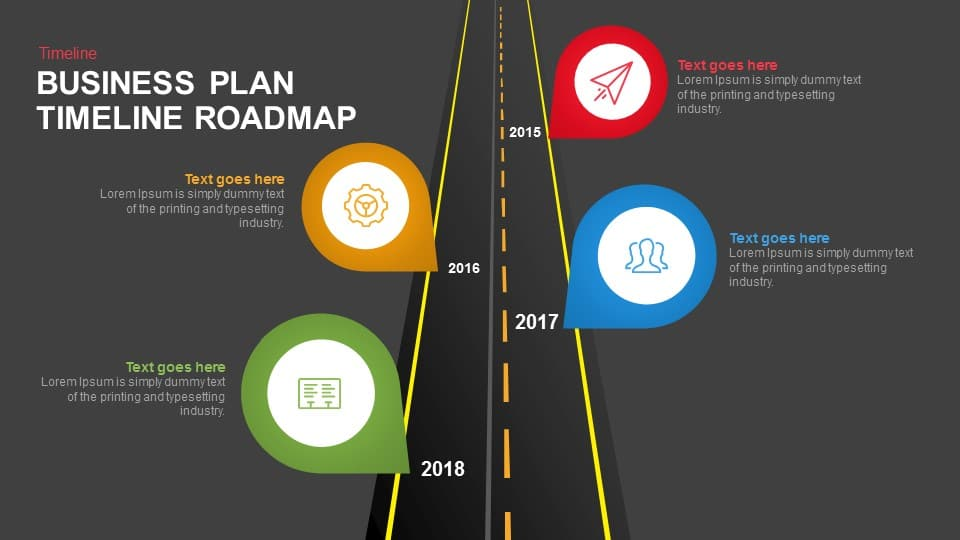 Business Plan Timeline Roadmap Keynote and Powerpoint template