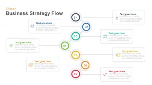Business Strategy Flow Diagram Template for PowerPoint and Keynote