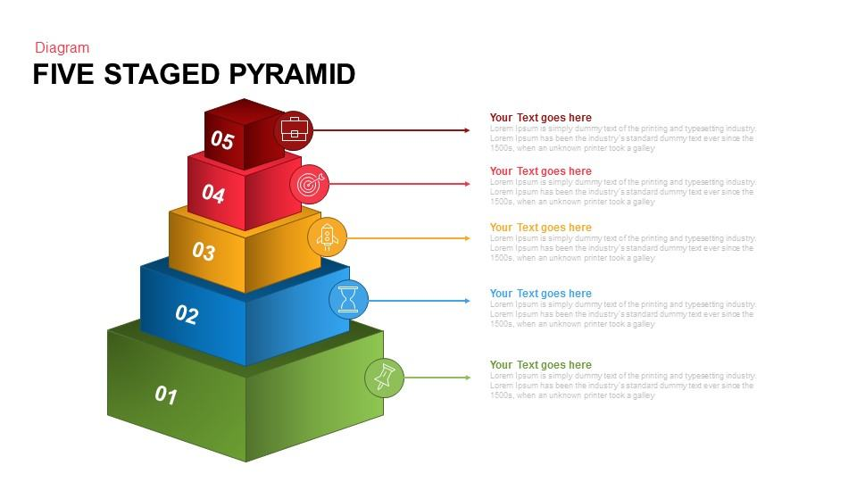 5 staged pyramid PowerPoint template and keynote