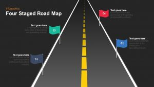 4 Staged Roadmap PowerPoint Template and Keynote
