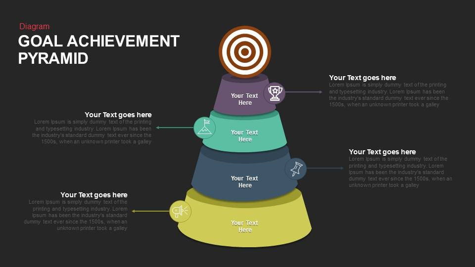Goal Achievement Pyramid Template for PowerPoint and Keynote