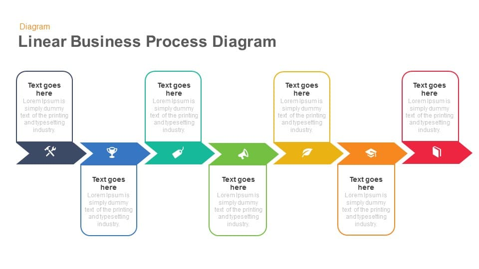 Linear Business Process Diagrams Template For Powerpoint And Keynote