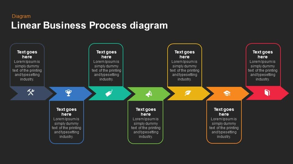 Linear business process diagram powerpoint keynote