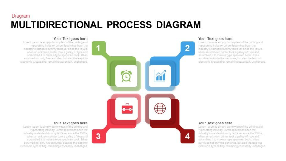 Multi directional Process Diagram PowerPoint Template
