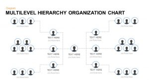 Multilevel Hierarchy Organization Chart Template for PowerPoint and Keynote